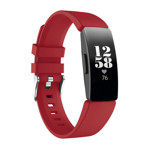 Rubber Strap for Fitbit Inspire - Red (Large)