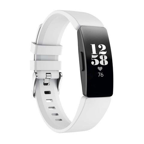 Rubber Strap for Fitbit Inspire - White (Large)