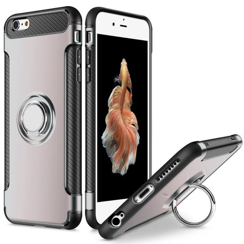 Tough Ring Carbon for iPhone 6/6S case - Silver