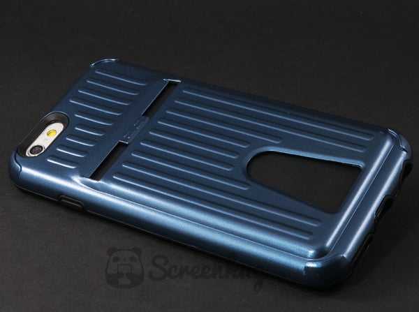 Metallic card case for iPhone 6 - Blue - screenhug