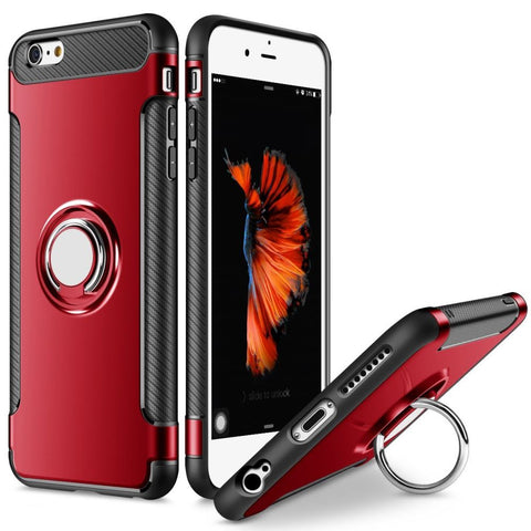 Tough Ring Carbon for iPhone 6/6S case - Red