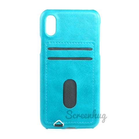 Back Card case for iPhone X/XS - Blue