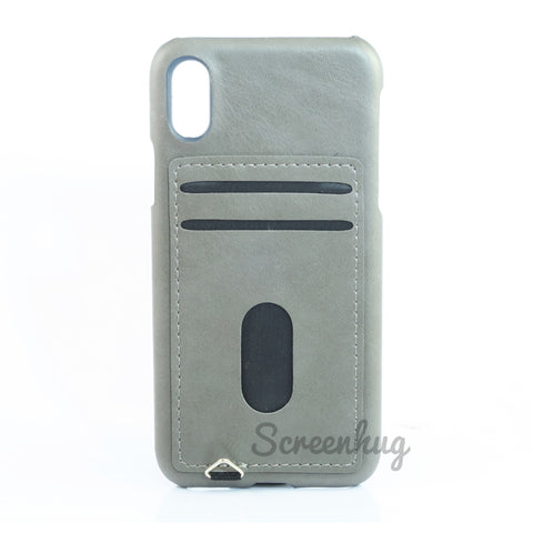 Back card case for iPhone X - Grey