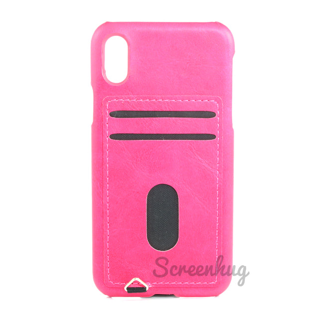 Back card case for iPhone X - Pink - screenhug