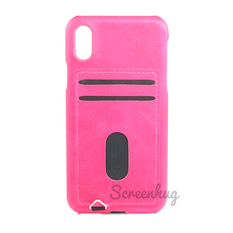 Back card case for iPhone X - Pink