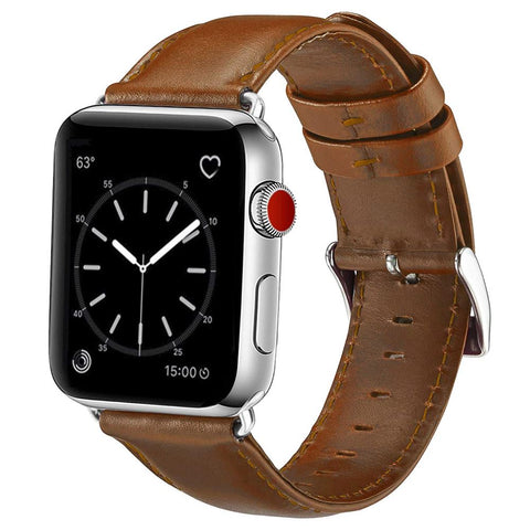 Leather Strap for Apple Watch 38/40mm - Light Brown