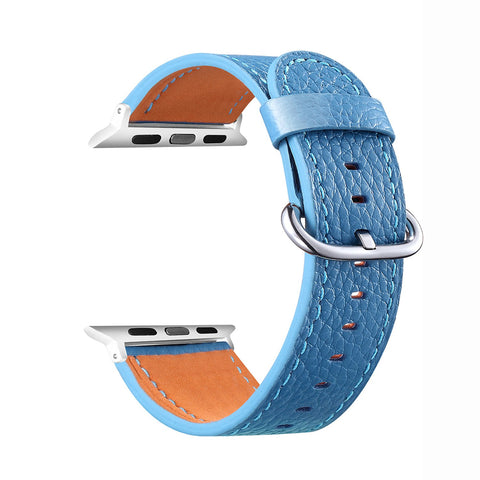 Leather Strap for Apple Watch 38/40mm - Blue