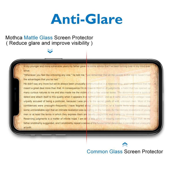 Matte Anti Glare Glass Screen Protector for iPhone 11 Pro - Clear - screenhug