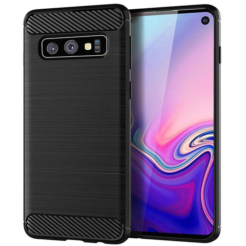 Metallic Tough Case for Samsung Galaxy S10e - Black