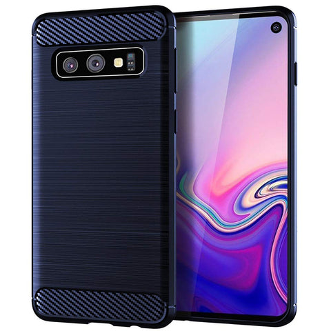 Metallic Tough Case for Samsung Galaxy S10e - Blue