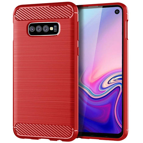 Metallic Tough Case for Samsung Galaxy S10e - Red