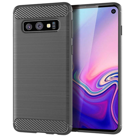 Metallic Tough Case for Samsung Galaxy S10e - Grey