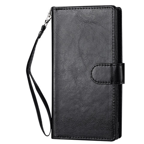 Big detachable wallet for iPhone 12 / 12 Pro - Black