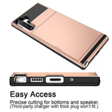 Card slider for Samsung Galaxy Note 10 Plus - Rose - screenhug