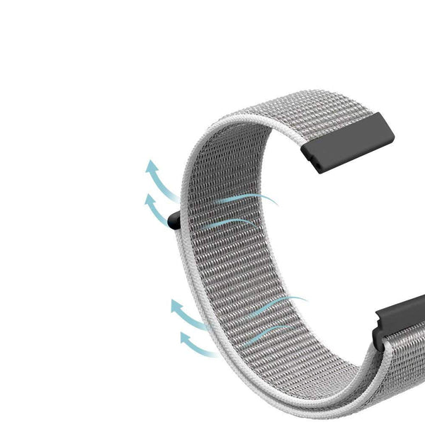 Nylon Strap for Galaxy Watch 20mm - White - screenhug