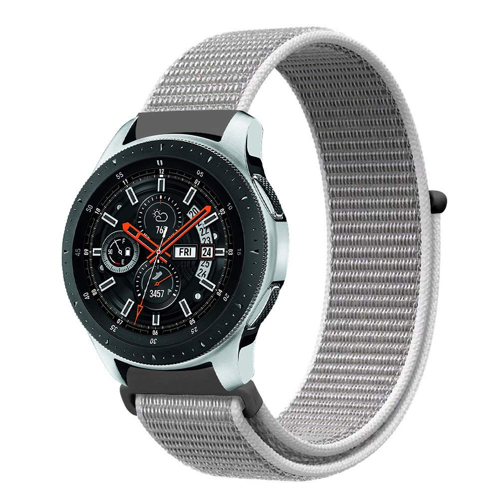 Nylon Strap for Galaxy Watch 22mm - White - screenhug