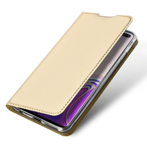 Slim one card case for Samsung Galaxy S10 - Gold