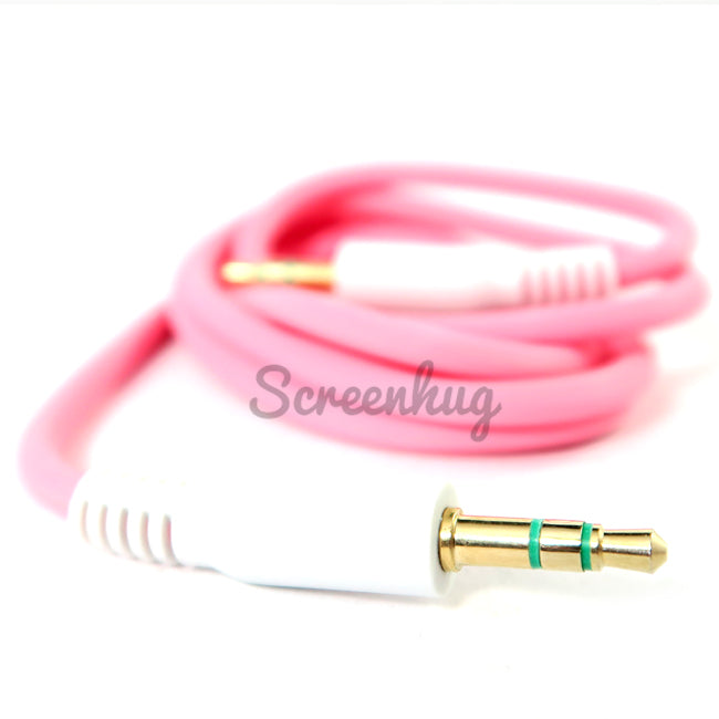 Aux cable  3.5mm - Pink - screenhug