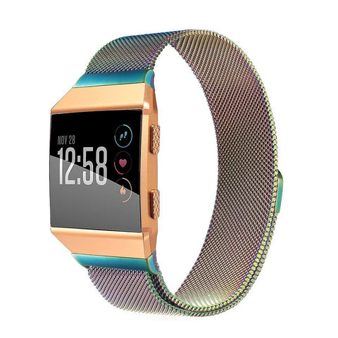 Milanese Strap for Fitbit Ionic - Rainbow - screenhug