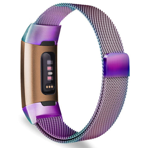 Milanese Metal Strap for Fitbit Charge 3 - Rainbow