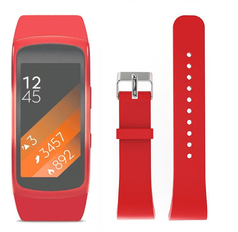 Rubber Strap for Samsung Gear Fit 2 - Red