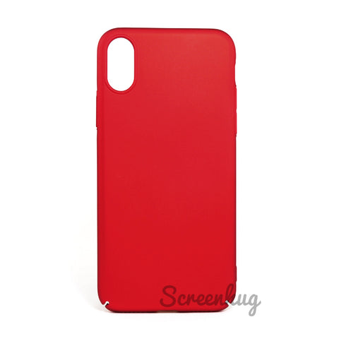 Thin shell case for iPhone XR - Red