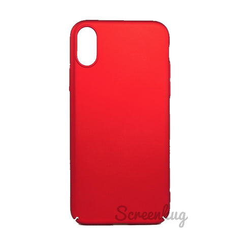 Thin shell case for iPhone X - Red