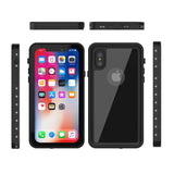 Waterproof cover Redpepper for iPhone X - Black - screenhug