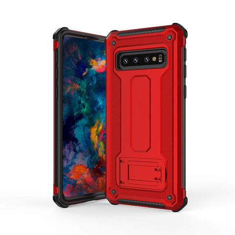Tough Stand Case for Samsung Galaxy S10 - Red