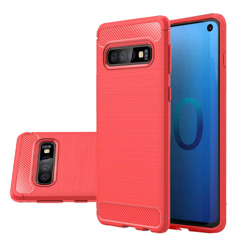 Metallic Tough Case for Samsung Galaxy S10 - Red