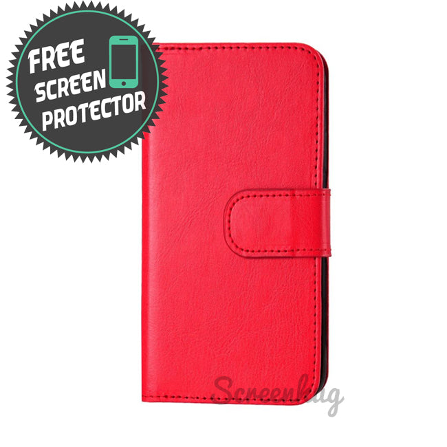 Classic Detachable big wallet for iPhone X - Red - screenhug