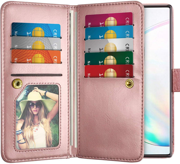 Big wallet detachable case for Samsung Galaxy Note 10 - Rose Gold - screenhug