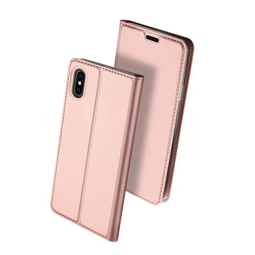 Slim Card Flip case for iPhone XS Max - Rose Gold - screenhug