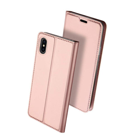 Slim Card Flip case for iPhone XS Max - Rose Gold