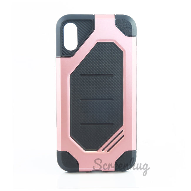 Rugged Tough Case for iPhone X - Rose - screenhug