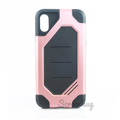 Rugged Tough Case for iPhone X - Rose
