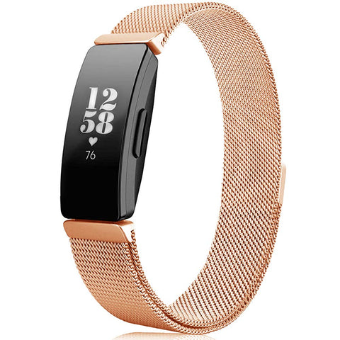 Milanese Strap for Fitbit Inspire - Rose Gold