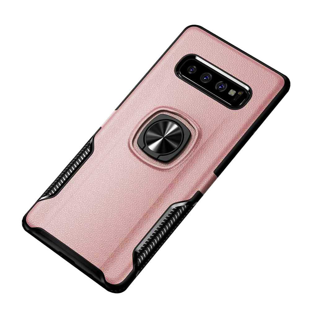 Carbon Tough Ring Case for Samsung Galaxy S10 - Rose - screenhug