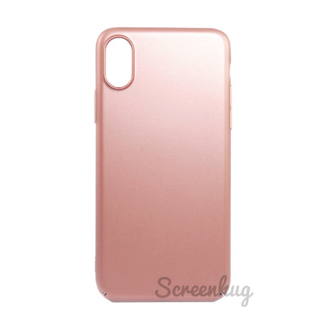 Thin shell case for iPhone XS Max - Rose Gold