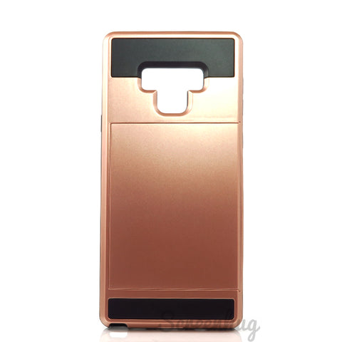 Tough Card Slider Case for Samsung Galaxy Note 9 - Rose Gold