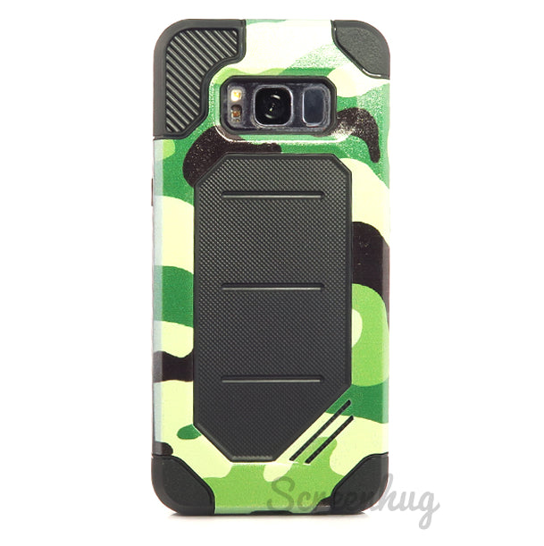 Rugged case for Samsung Galaxy S8 Plus - Green Camo - screenhug