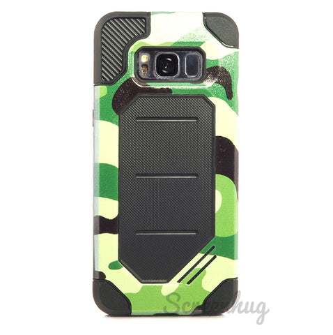 Rugged case for Samsung Galaxy S8 Plus - Green Camo