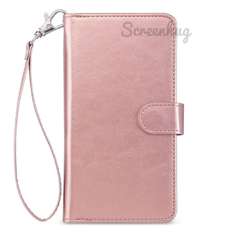 Big Detachable Wallet for Samsung Galaxy S10 - Rose Gold