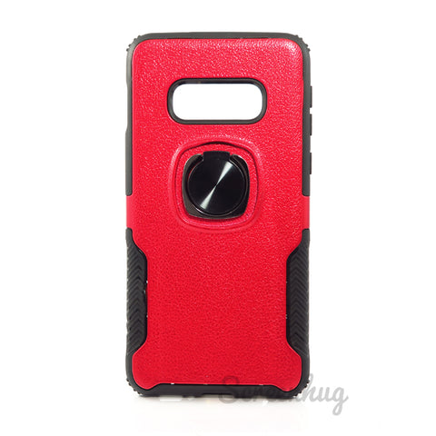 Carbon Tough Ring Case for Samsung Galaxy S10e - Red