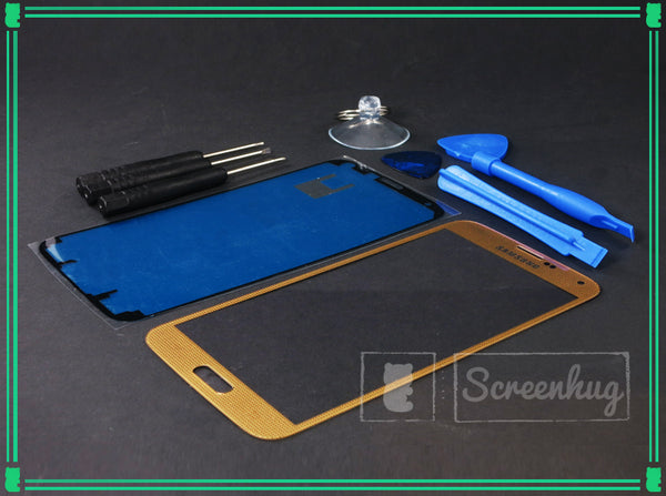Samsung Galaxy S5 Screen Replacement - Gold + Toolkit - screenhug
