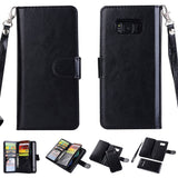 Big Detachable Wallet for Samsung Galaxy S8 - Black - screenhug