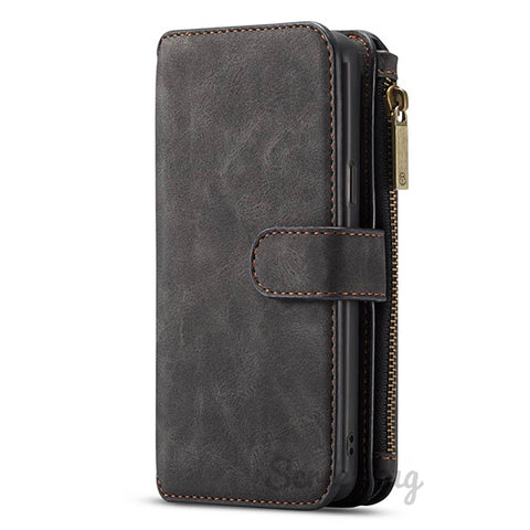Coin Zip wallet for iPhone 11 Pro Max - Black