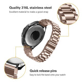 Stainless Steel Watch Strap for Samsung Watch - Rose Gold - screenhug