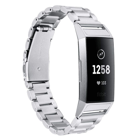 Metal Strap for Fitbit Charge 3 - Silver - screenhug