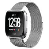 Milanese Strap for Fitbit Versa - Silver - screenhug